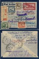 FRANCE 1939 Petit Entier 36c Par Avion Recommandé De CAP-St-JACQUES Pour La France, Re-dirigé Trois Fois - Briefe U. Dokumente