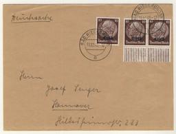 FRANCE / ALSACE / ELSASS - 1940 3xYv.13 /Bande Drücksache/Imprimé De BAD NIEDERBRONN (Niederbronn-les-Bains) à Hannovre - Alsace-Lorraine