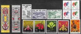 Papua New Guinea  1969 4 MNH  Sets   2016 Scott Value $7.05  Orchids, Bird Of Paradise, Etc - Papua New Guinea