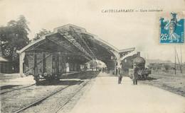 """/ CPA FRANCE 82 """"Castelsarrasin, Gare Intérieure"""" - Castelsarrasin"""