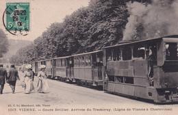 """VIENNE  """" TOP CARTE  Cours Brillier , Arrivée Du Tram """"     N°7282 - Vienne"""