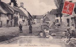 """GIAT """" TOP CARTE , Place Du Lavoir RARE""""     N°7296 - Ohne Zuordnung"""