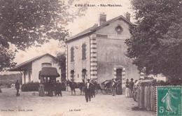 "STE MAXIME  "" TOP CARTE RARE . La Gare , Grosse Animation ""     N°7308 - Sainte-Maxime"