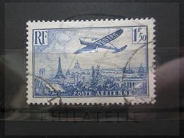 VEND BEAU TIMBRE DE POSTE AERIENNE DE FRANCE N° 9 !!! (b) - 1927-1959 Afgestempeld