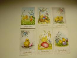 Beau Lot De 20 Cartes Postales De Fantaisie  Pâques    Mooi Lot Van 20 Postkaarten Fantasie  Pasen  - 20 Scans - 5 - 99 Postales