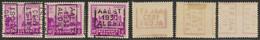 """Antituberculeux (Chateaux) - N°308 + Préo """"Aalst 1930 Alost"""" Position A,B Et C  / Collection Spécialisée. - Other"""