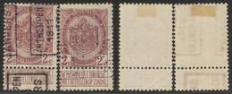 """Armoiries - N°82 Préo """"Antwerpen 1911 Anvers"""" Position A & B, Complet / Cote 15e, Collection Spécialisée. - Roller Precancels 1910-19"""