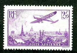 PA 10 - 2F25 Violet Avion Sur Paris - Neuf N* - 1927-1959 Nuovi