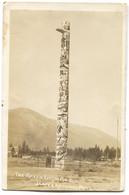 CANADA - THE RAVEN TOTEM POLE, JASPER NATIONAL PARK, OLD PC - Jasper