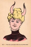 DC4887 - Schöne Motivkarte Junges Mädchen Dame Frau Teufel Cpa Fais Donc Tant La Fiére Tu En Aussi - Women