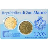 San Marino, Coffret, 2003, Rome, 20c + 50c, FDC - San Marino