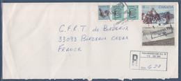 Canada Pour La France Enveloppe  Recommandée De Trois-Rivières 1.VIII.1985 Avec 5 Timbres - Recomendados