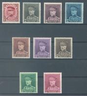 BELGIQUE - 1931 - MNH/*** LUXE  - ALBERT Ier CASQUETTE  - COB 317-324  - Lot 23037 - COTE 410.00 EUR - 1931-1934 Kepi