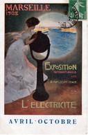 MARSEILLE  1908  -  EXPOSITION  INTERNATIONALE  DE  L'ELECTRICITÉ   - AVRIL -OCTOBRE  - CPA  ( 20 / 12 / 390  ) - Non Classificati