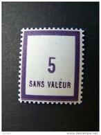 FICTIFS NEUF ** N°F103 SANS CHARNIERE (FICTIF F 103) - Phantomausgaben
