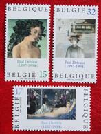 Tableaux Paul Delvaux Art Painting COB 2699-2701 (Mi 2751-2753) 1997 POSTFRIS MNH ** BELGIE BELGIEN BELGIUM - Nuovi