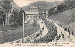 Morez Arrivée Du 133 E Régiment D'infanterie Avenue De La Gare Paget 54 - Morez