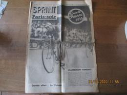 SPRINT SUPPLEMENT DE PARIS-SOIR TOUR DE FRANCE 1935 16 PAGES ETAT D'USAGE - Ciclismo