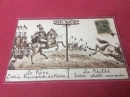 ♥️ NANCY. Carte Satirique De 1914 Sur Le Kaiser - Nancy