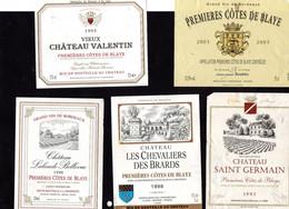 """Etiquettes-  """" Côtes De BLAYE """"- - Bordeaux"""