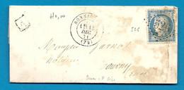 SEINE ET OISE - BONNIERES. GC 526 + CàD Type 17. BOITE URBAINE A. 1871 - 1849-1876: Période Classique