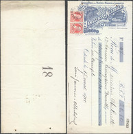 Belgique Effet De Commerce - Grands Parcs Aux Huitres Homards Et Langoustines (Ostende - 1910 / N°74 Lot De Deux) - 1900 – 1949