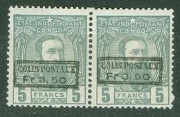 Congo Belge  CP  5 En Paire    *   TB - 1884-1894 Vorläufer & Leopold II.