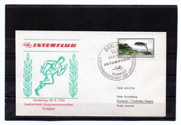 DDR, 1966, Luftpostbrief, Leichtathletik-EM Budapest - Brieven