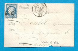 SEINE ET OISE - CHAVILLE. GC 4803 + CàD Type 17 - 1849-1876: Classic Period