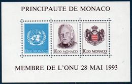 MON  1993  Bloc N°62   Admission De Monaco à L'O.N.U.   ** MNH - Blocks & Sheetlets