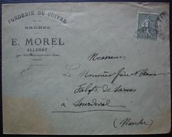 Allenay 1922 Par Béthencourt-sur-mer (Somme) E. Morel Fonderie De Cuivre Et De Bronze, Pour Sourdeval - 1921-1960: Periodo Moderno
