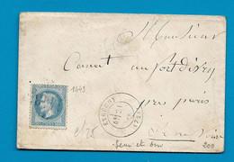 SEINE ET OISE - ETRECHY. GC 1443 + CàD Type 17 - 1849-1876: Période Classique