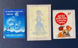 Lot Vignettes Auto-collant Stickers Quinzaine école Publique Souffle C'est La Vie Tuberculose Jeunesse Plein Air Morvan - Luchtpost