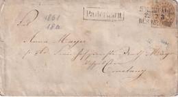 PREUSSEN 1861  ENTIER POSTAL/GANZSACHE/POSTAL STATIONARY LETTRE DE PADERBORN - Ganzsachen