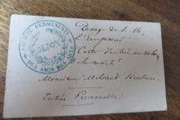 SOCITE DES AMIS DES ARTS DIJON PASSAGE DE L'EMPEREUR AU SALON MR MILSAND SECRETAIRE - Biglietti D'ingresso