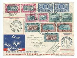 1938 Dingaansdagvlucht Van De KLM Gefrankeerd Met Nederlands En Zuid Afrikaanse Postzegels - Non Classificati