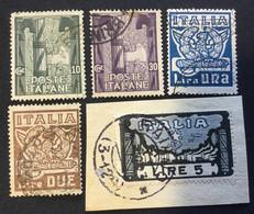 1923 - REGNO - MARCIA SU ROMA - SERIETTA USATA - FIRMATI - SPL - EURO 170,00 - Usati