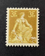 11293 -  Helvetia à L'épée No 116  3 Fr Jaune/olive ** Neuf MNH Catalogue 1000 CHF - Nuevos