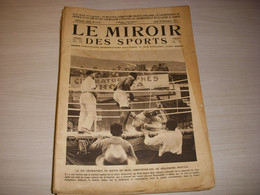 MIROIR Des SPORTS 0117 28.09.1922 BOXE CARPENTIER SIKI ATHLE FRANCE FINLANDE - Sport
