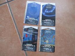 2020 ANM Napoli Serie N.8 Pezzi Usati  METRO ART L'arte è...un Metro Da Te USED Tickets - Europa