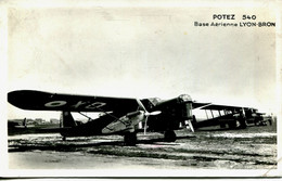 13431   Rhone  -  BRON :  Avion POTEZ 540  -  Base Aérienne Lyon Bron    Gros Plan   RARE  ....circulée  Aviation - 1919-1938: Fra Le Due Guerre