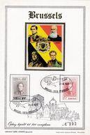 4 Scans Feuillets Tirage Limité 500 Exemplaires 1627 à 1634 Roi Belgica 1972 - Hojas