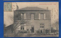 SAINT-MARTIN-L'HEUREUX   Ecole       Animées    écrite En 1906 - Other Municipalities