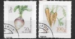 Islande 2020, Série Oblitérée Légumes - Gebraucht