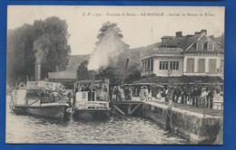 LA BOUILLE    Arrivée Du Bâteau De Rouen      Animées     écrite En 1921 - La Bouille