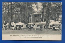 VERSAILLES   Parc  Café Restaurant De La Flotille Du Canal  Maison F.LECOMTE       Animées     écrite En 1914 - Versailles