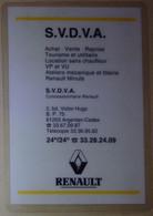 Petit Calendrier De Poche Plastifié 1994 Concessionnaire Renault Argentan - Formato Piccolo : 1991-00