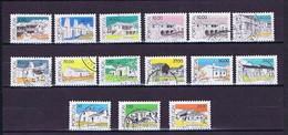 Portugal 1986-1988: Häuser, 15 Marken Gestempelt / Used - Collections