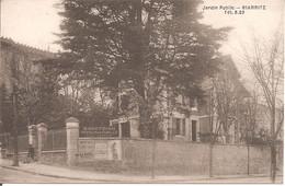 BIARRITZ (64) Pension De Famille BARATZIAN - Jardin Public (Carte Pas Courante) - Biarritz