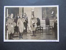 Vatican 1938 AK Deutsches Reich Propaganda AK Der Führer Und Der Duce Im Quirinal Freimarken Nr. 21 / 22 Und Nr. 52 - Covers & Documents